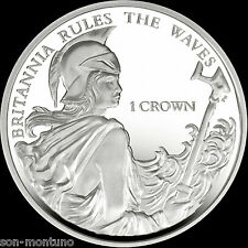 BRITANNIA RULES THE WAVES - 2015 Falkland Islands - 1 Crown Cupro Nickel BU Coin