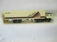 """Wiking 1/87 engl. Ausf. Scania Container Sattelzug """"Siemens""""  WS3782"""