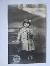 Polizia Vigili urbani Trieste bambino vecchia cartolina fotografica de Rota
