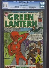 GREEN LANTERN #13 CGC VF+ 8.5; White Pg!; classic Flash big-head cover!
