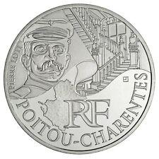 """Pièce de 10 euros des régions """"Poitou Charente"""" 2012."""
