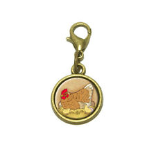 Chicken and Peeps Cute Bracelet Pendant Charm