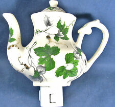 Night Light Maple Leaves Teapot porcelain lamp home decor