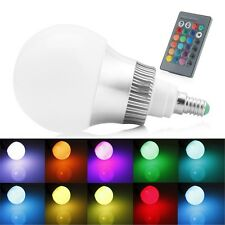 15W RGB 85-265V E14 LED Light Color Changing Lamp Bulb + Remote Control New