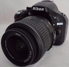 Nikon D5200 24.1MP DSLR Camera Black w/ DX AF-S 18-55mm Lens