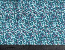 Flo's Garden Ditzy Flower Aqua by Makower Cotton Quilt Fabric By the Yard #550-1