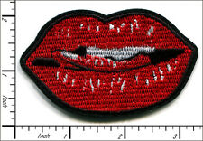 "20 Pcs Embroidered Iron on patches Red Mouth Lips 3.23""x1.97"" AP055mC"