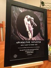 "FRAMED ORIGINAL & RARE ARCADE FIRE ""REFLEKTOR"" LP ALBUM CD PROMO AD"