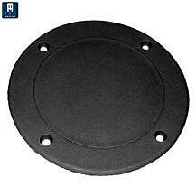 TH Marine Screw Down Deck Plate 5-5/8 Black SDP-1-DP