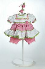 "Adora 20"" OUTFIT POLKA DOT ROSE for Dolls Pink Green White Ribbon Lace NEW"