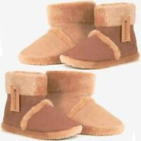 MENS ANKLE SLIPPERS BOOTS WARM FUR COSY COMFORT SLIP ON WINTER BOOTIE SHOES SIZE