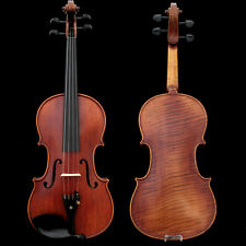 Professional Hand-made 4/4 Size Acoustic Violin One Piece Back Antique Style
