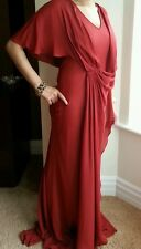 Beautiful Amanda Wakeley red silk gown.uk 8/40. £1070.wedding.ball.prom.