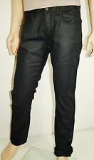 Neu - Hugo Boss  W34 L32  RED 708 Stretch - waxed Slim Jeans schwarz  34/32