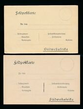 GERMAN SOUTH WEST AFRICA 1900-05 FELD POSTCARDS MINT STATIONERY...2 CARDS