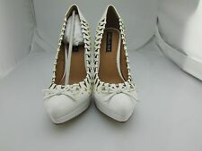 "Women's ""Jordian"" Classic Closed Toe Pumps, in White  - Size 7.5"