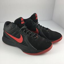 Mens Size 7 Nike Overplay VIII 8 Basketball Shoes Red & Black  643168-007