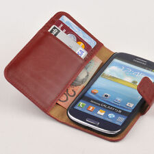 For Samsung Galaxy S4 i9500 Genuine Leather Wallet Case Flip Cover Red