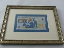 (ref165BU) Rare Framed Ltd Edition Jack Nicklaus 2005 £5 Note
