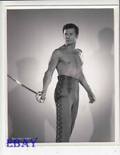 Cornel Wilde barechested w/sword VINTAGE Photo California Conquest