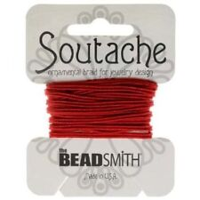 Beadsmith 3mm Soutache Red Cord 3 Yards