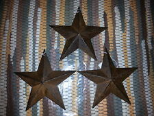 "Set of 3 Rusty 5.5"" Primitive Metal Barn Star - Stars, Ornaments, Crafts"