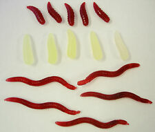 Fishing Bait Pack 5 Red Worms & Maggots & 5 Glow Maggots Great for Roach & Bream