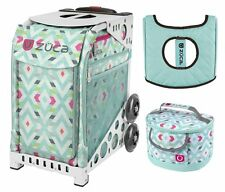 Zuca Sport Bag - Chevron with GIFT Lunchbox and Seat Cover (White Frame)