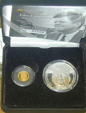 J.F. KENNEDY'S VISIT TO IRELAND. 1963. GOLD & SILVER PROOF SET. 50TH ANNIVERSARY