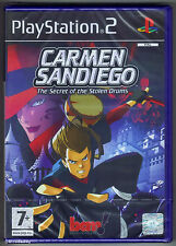 PS2 Carmen Sandiego: The Secret of the Stolen Drums, UK Pal, New Factory Sealed