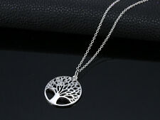925 Sterling Silver Hollow Wish Tree Pendant The Tree of Life Necklace For Women
