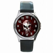 Skull Predator Punisher Accessory Leather Watch New!