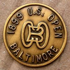 "US OPEN 1899 1"" COIN GOLF BALL MARKER BALTIMORE GOLF CLUB"