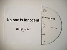 NO ONE IS INNOCENT : QUI JE SUIS ♦ CD SINGLE PORT GRATUIT ♦