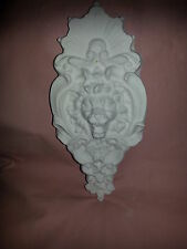 Ornate lion face en caoutchouc latex mould mold wall decor plaque plâtre béton neuf