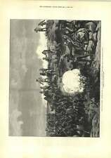 1882 Shell Exploding General Staff Mahuta War Egypt