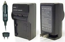 Kodak Klic-7002 Battery AC Wall & DC Car Charger By CS Power