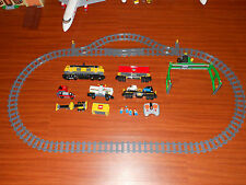 LEGO Train 7939 Yellow Cargo Train - Radio control with tracks
