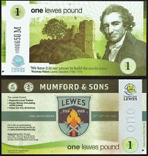 "England/ Lewes - £1 Banknote, Limited Edition for the ""Mumford and Sons"" concert"