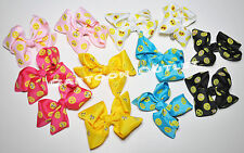 12 EMOJI BOWS CLIPS BARRETS PARTY FAVORS  EMOTION RECUERDOS 12 HEAD BOWS GIRLS