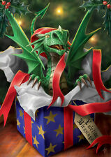 Anne Stokes Yule Card Surprise Gift Dragon Christmas