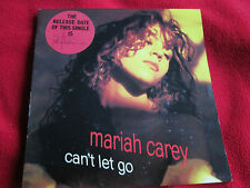 """Mariah Carey Can't Let Go 657662Stickered Picture Sleeve UK 7"""" Vinyl Single 45"""