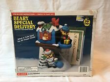 Wee Crafts #21539 Beary Special Delivery Christmas Card Napkin Holder Paint Kit