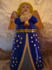 MR CHRISTMAS ANGEL IN A BAG  ANIMATED PORCELAIN MUSIC BOX