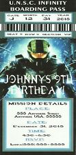 "Halo 4 - Birthday Party Invitations - Customized for YOU  - 3""x6"""
