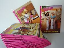 Vintage Set of 16 BARBIE Books Mattel Grolier 1998 + 1999 Excellent Unread