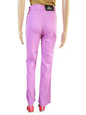 VERSACE Authentic Vtg 90s Classic High Waist Lilac Pants Jeans UK 10 IT 26  AT34