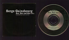 CD SINGLE PROMO SERGE GAINSBOURG SEA, SEX AND SUN EDIT REMIXED BY DEMON RITCHIE