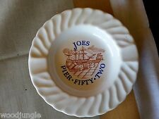 Vintage  JOES PIER FIFTY TWO RESTAURANT ASHTRAY  KIPNESS NEW YORK CITY NYC