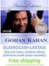 2CD GORAN KARAN - PLATINUM COLLECTION 2009 srpska bosna hrvatska muzika digipak